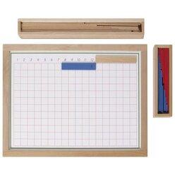 Montessori Streifenbrett zur Subtraktion