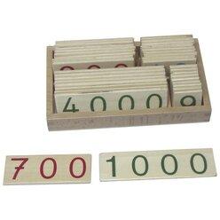 Zahlenkarten 1-9000 klein