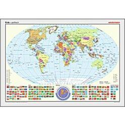 Westermann Posterkarte Erde politisch 100x70cm