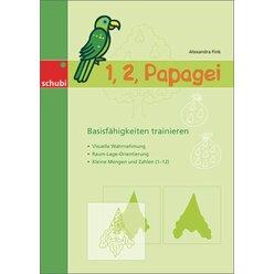1, 2 Papagei, Kopiervorlagen, 4-7 Jahre