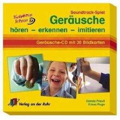 Geräusche hören - erkennen - imitieren, Audio-CD/Bildkarten, 4-10 Jahre