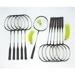 Badminton Schulset Alu-Line mit Tasche, 12 Schläger
