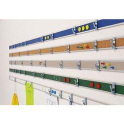 Alu-Wandleiste, weiße Tafel-Oberfläche, 1 Meter