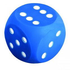 Augenwürfel 10 cm, blau