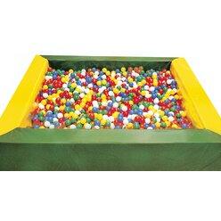 Bällchenpool grün-gelb 2,5 x 2,5 m
