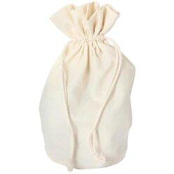 Baumwollsäckchen mit Boden, groß 21,5x16,5 cm (5 Stück)