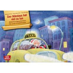 Kamishibai Bildkartenset A3: Der Nikolaus hat viel zu tun, 3-6 Jahre
