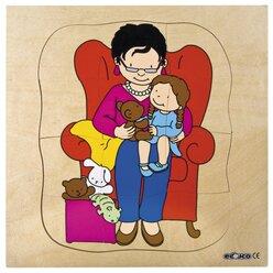 Lagenpuzzle Großmutter, ab 4 Jahre