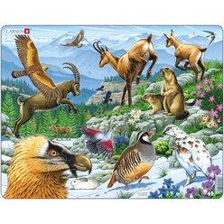 Larsen Lernpuzzle Tiere und Pflanzen der Alpen