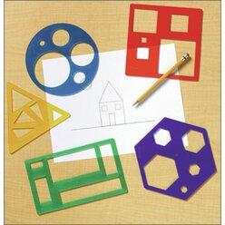 geometrische Grundformen, Malschablonen, ab 4 Jahre