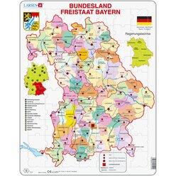 Larsen Lernpuzzle Puzzle Bundesland Bayern (politisch) (Neuauflage)