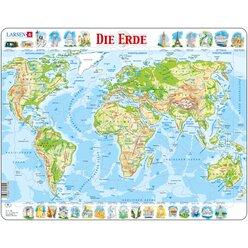 Larsen Lernpuzzle Die Erde (physisch)