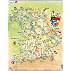 Larsen Lernpuzzle Puzzle Bundesland Bayern (physisch)