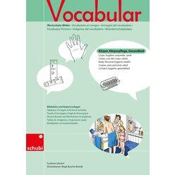 Vocabular Wortschatz-Bilder - Körper, Körperpflege, Gesundheit, Kopiervorlage, 3-99 Jahre
