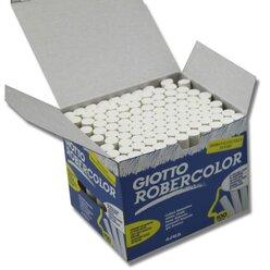 Robercolor - Kreide weiß rund, 100 Stück