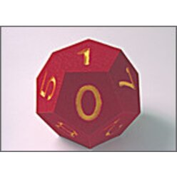 Zahlenwürfel groß 0-10, 22 cm, rot