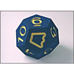 Zahlenwürfel groß 0-10, 22 cm, blau