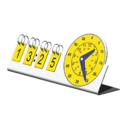 Lernuhr Kunststoff, 24 Stunden, analog / digital