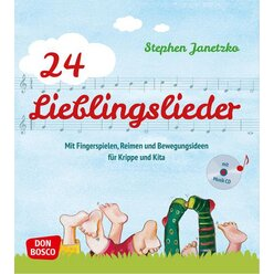 24 Lieblingslieder, Liederbuch inkl. Audio-CD, 2-6 Jahre