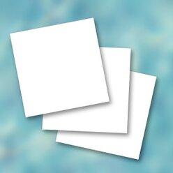 Blanko-Memo Karten, 48 Stück, 65x65 mm