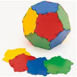 Polydron Mengensatz Fünfecke für den Zwölfflächner/Dodekaeder 24 Teile