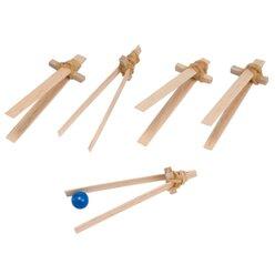 Pinzetten-Set, 5 Stück aus Holz, ab 3 Jahre