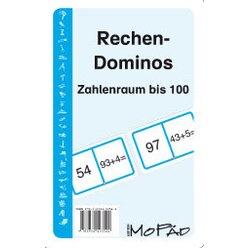 Rechen-Dominos: Zahlenraum bis 100, Kartenspiel, 1.-2. Klasse