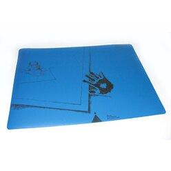 Schreibtischauflage für Linkshänder blau