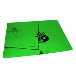 Schreibtischauflage für Linkshänder - Pinie-Grün