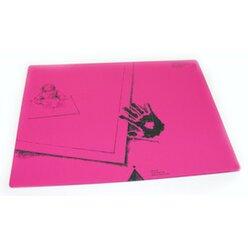 Schreibtischauflage für Linkshänder pink