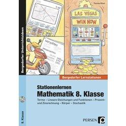 Stationenlernen Mathematik, Buch inkl. CD, 8. Klasse