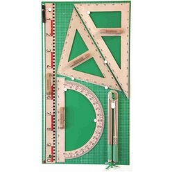Wandtafelzeichengerätesatz RE-Wood® mit Vollmagnetstreifen (165134.M00)