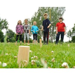 KUBB Wikingerspiel, Wurfspiel, 21-teilig, für Groß und Klein