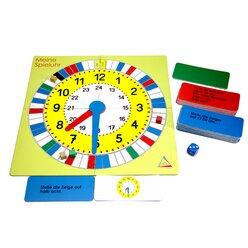 Lernspielset: Mathespiel Uhrzeit, ab 7 Jahre