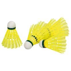 Badminton-Bälle, grün - Geschwindigkeit langsam, 6 Stück