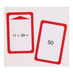 Addition-Spielkarten bis 100 mit Zehnerübergang