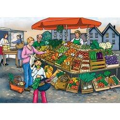 Vocabular Wortschatz-Bilder - Obst, Gemüse, Lebensmittel, Kopiervorlage, 3-99 Jahre