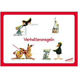 Verhaltensregeln, 16 Bildkarten, 4-9 Jahre