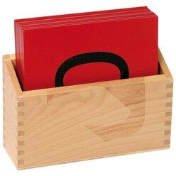 Sandpapier-Ziffern mit Holzbox