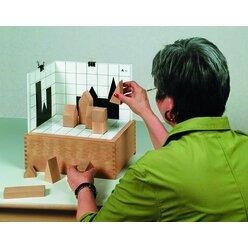 Schatten-Bauspiel aus Buchenholz, ab 5 Jahre