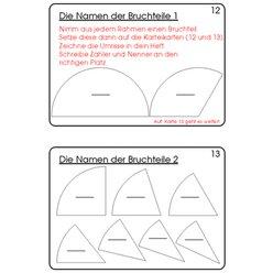 Bruchrechenkartei Teil 1, Addition & Subtraktion