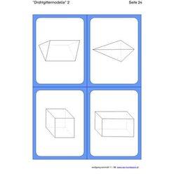 Geometrische Körper, Legekarten