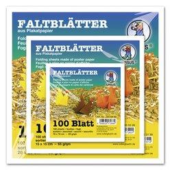 Faltpapier | Quadrat | 20 x 20 cm | 60 gsm | 12 gemischte Farben