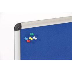 Textiltafel blau mit Alurahmen, 120 x 90 cm