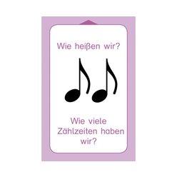 Allgemeine Musiklehre, 47 Übungskarten