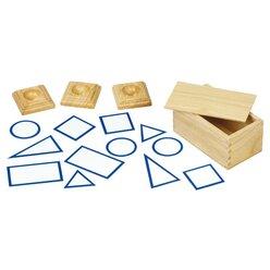 Grundflächenkärtchen aus Holz 12 Stück