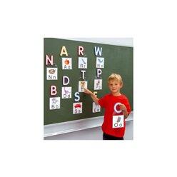 Magnetische Buchstaben mit Tasche, 14 x 14 cm