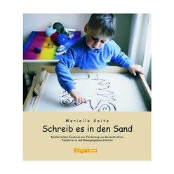 Sandwanne und Buch, deutsche Version