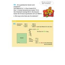 44 Flächenberechnung - Umfang und Fläche von Rechteck und Quadrat