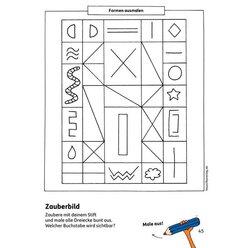 621 Kindergartenblock - Formen, Farben, Fehler finden ab 4 Jahre